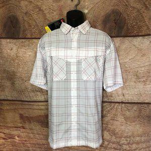 Under Armour Heat Gear Work Shirt White Plaid XL